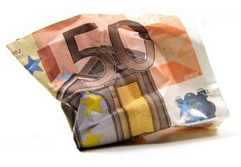 Zerknitterter 50 Euro Geldschein