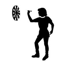 femme, flêchette, illustration