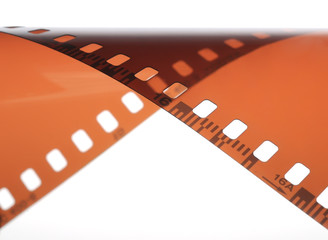 Film on a white background