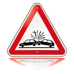 Vorsicht Unfall