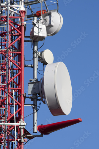 Antennas on communication tower
