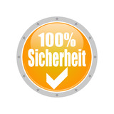 Button 100% Sicherheit