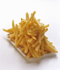 French Fries on a Paper Plate