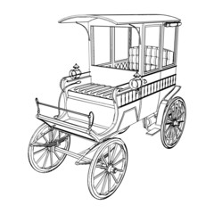 Victorian Cabs Carriage Vector 02