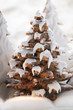 Gingerbread trees with glacé icing