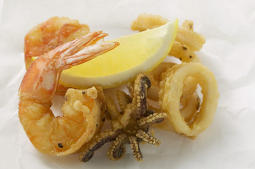 Deep-fried seafood (Liguria)