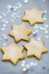 Four star-shaped biscuits