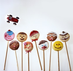 Home-made lollipop biscuits