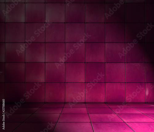 Magenta Tiled Room
