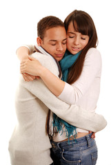 Boy and Girl keeping warm