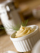 Mayonnaise in a small pot