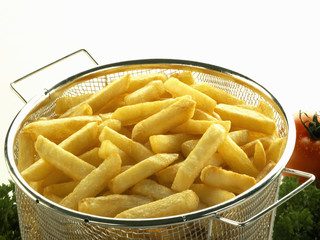 Chips in frying basket