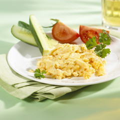 Scrambled egg for breakfast