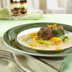 Beef roulade with oranges