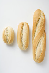 Baguette rolls of different sizes
