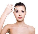 botox injection in forehead poster