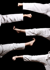 Karate. Hands and legs