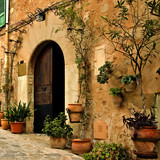 Fototapety old mediterranean village