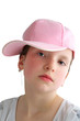 Girl with a pink baseball cap