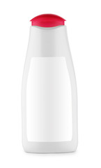 white bottle with red cover isolated