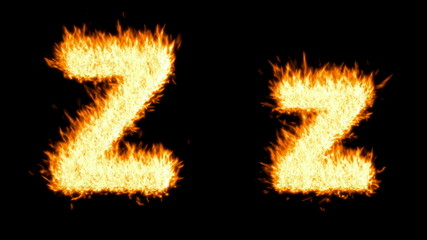 Loopable burning Z character. Alpha channel is included