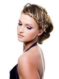 beauty hairstyle with pigtails poster