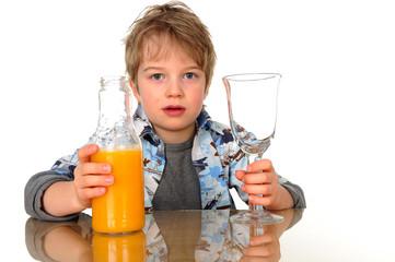 boy with juice