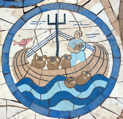 Noah's Ark, mosaic, Church on the Mount of Beatitudes