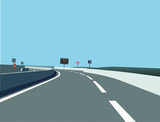 route de circulation poster