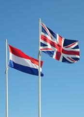 Bandiere inglese e olandese