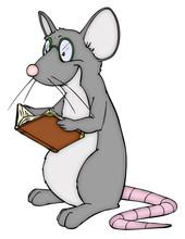 Leseratte, lesen, Buch, Bibliothek, Bücherrei, Ratte