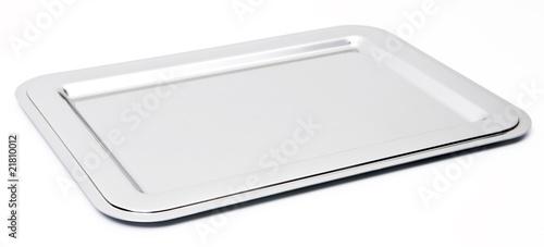 Leinwandbild Motiv silver tray