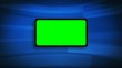3D green screen ipad animation template blue background