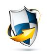 concept bouclier sécurité protection