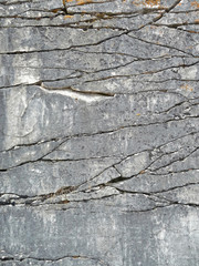 Natural rock with fractures background