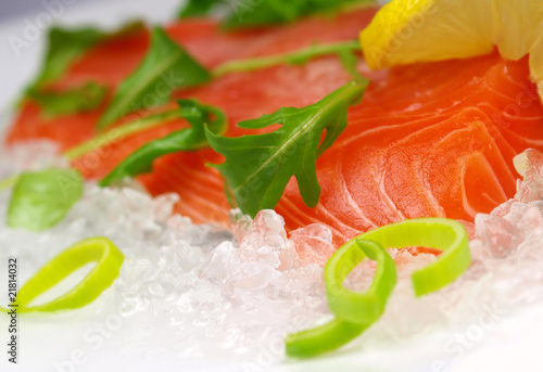 Freash salmon steak