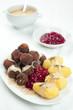 Swedish Kottbullar meatball with brunsas sauce, boiled potatoes
