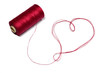 Heart made of red thread