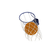 Two basketball items poster