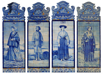 trajes azulejo