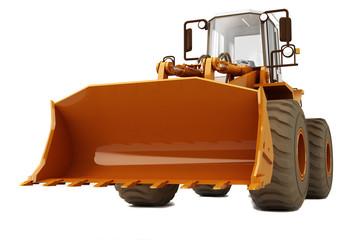 Bulldozer on wheels