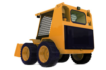 Bulldozer on wheels