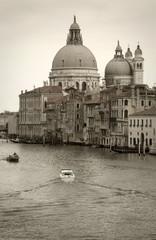 Venice: S.Maria della Salute church along Canal Grande