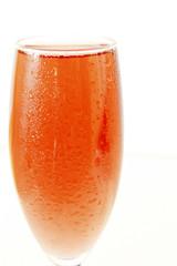 verre de champagne rosé