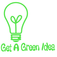 green idea light-bulb