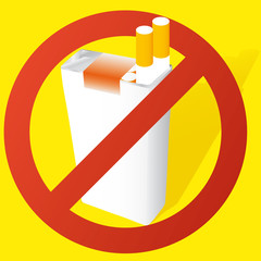 vector illustration of a no smoking sign