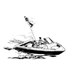 ski nautique, illustration