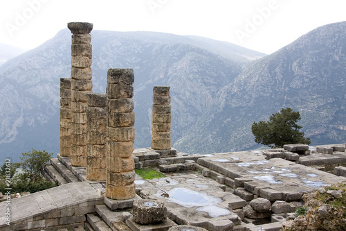 Ancient Pillars In Delphi