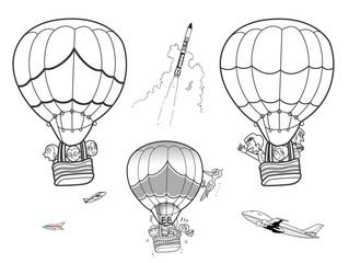 空の乗り物(気球)