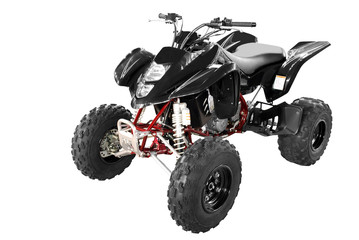 black 4x4 quadbike isolated